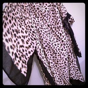 Leopard Shrug Shall Duster Kimono